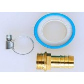 """Hosetail Kit 5 - 3/4""""Outlet to 1/2""""X12MM Brass Hosetail"""