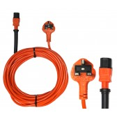 15M 3 CORE 1.5mm CABLE WITH KETTLE STYLE PLUG to UK PLUG