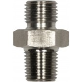 """MALE TO MALE STAINLESS STEEL DOUBLE NIPPLE ADAPTOR BSP TAPERED -3/8""""M to 1/2""""TM"""