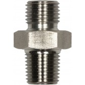 """MALE TO MALE STAINLESS STEEL DOUBLE NIPPLE ADAPTOR BSP TAPERED -1/4""""M to 1/4""""TM"""