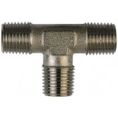 Nickel Plated Brass Male Thread 3 Way T Piece