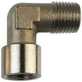 Nickel Plated Brass Male Thread x Female Thread Elbow