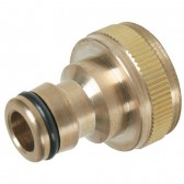 "Quick Release Brass Hose Plug with ¾"" Female Screw Socket"