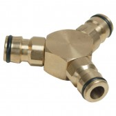 Quick Release 3 Way Male Connector