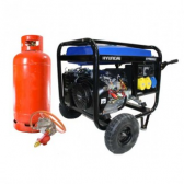 Hyundai 6.6kW Electric Start Dual Fuel Petrol/LPG Generator