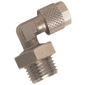 Thread to Tube Quick-Fit Swivel Stud Brass Elbow Fitting
