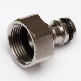 "Quick Release Metal Hose Plug with ¾"" Female Screw Socket"