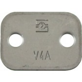 ZINC PLATED TOP PLATE FOR 20, 22 & 25 mm OD PIPE