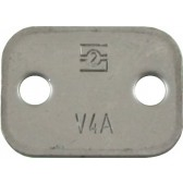 ZINC PLATED TOP PLATE FOR 12 mm OD PIPE