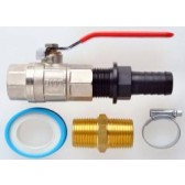 "Tap Kit 1 - 1"" Outlet to 1"" Valve to 25mm Hosetail"