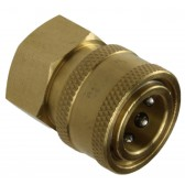 """BRASS QUICK RELEASE COUPLING 3/8"""" FEMALE"""
