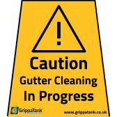 """Gutter Cleaning In Progress"" Vinyl Stickers"