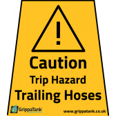 """Caution - Trailing Hoses"" Vinyl Stickers"