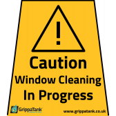 """Window Cleaning in Progress"" Vinyl Stickers"