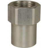 """FEMALE TO FEMALE STAINLESS STEEL SOCKET ADAPTOR-M18 F to 1/2""""F"""