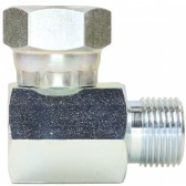 """FEMALE TO MALE ZINC PLATED STEEL ELBOW-1/2""""F to 1/2""""M BSPT"""