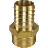 "HOSE TAIL BRASS 1¼"" TAPERED MALE"