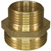 """MALE TO MALE BRASS DOUBLE NIPPLE ADAPTOR, - 3/4""""M to 1.0""""M (SHORT VERSION)"""