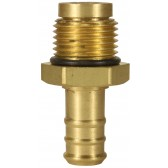 "HOSE TAIL BRASS 1/2"" MALE, 12mm, WITH SWIVEL"