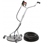 TURBO DEVIL TD410 SURFACE CLEANER INC QUICK RELEASE ST2600 GUN AND VACUUM HOSE